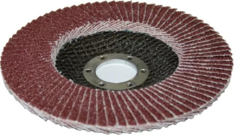 Диск шлифовальный лепестковый торцевой Hitachi 125мм К80 с наж.бум.